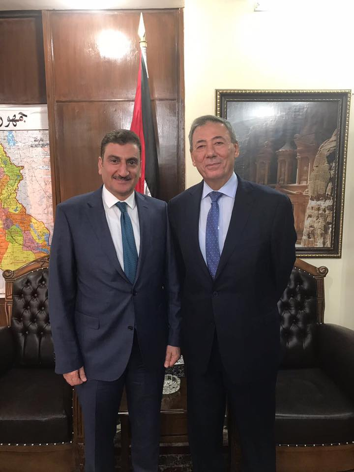 Anbar Investment Commission Chairman met with Jordanian Ambassador in Baghdad in preparation for the Anbar Fourth Annual International Investment Conference