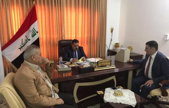 Anbar Deputy Governor visited Anbar Investment Commission's headquarters to review preparations for the Fourth Annual International Investment Conference